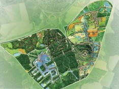 Aerial plan, Nature Village, Disney Inc. Paris