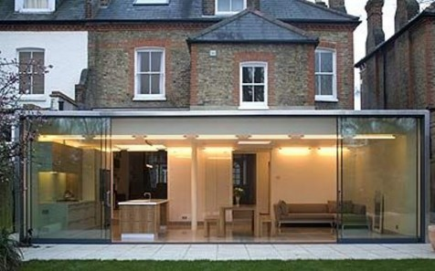 Contemporary glass extension concept interior - Glass extensions to houses ...